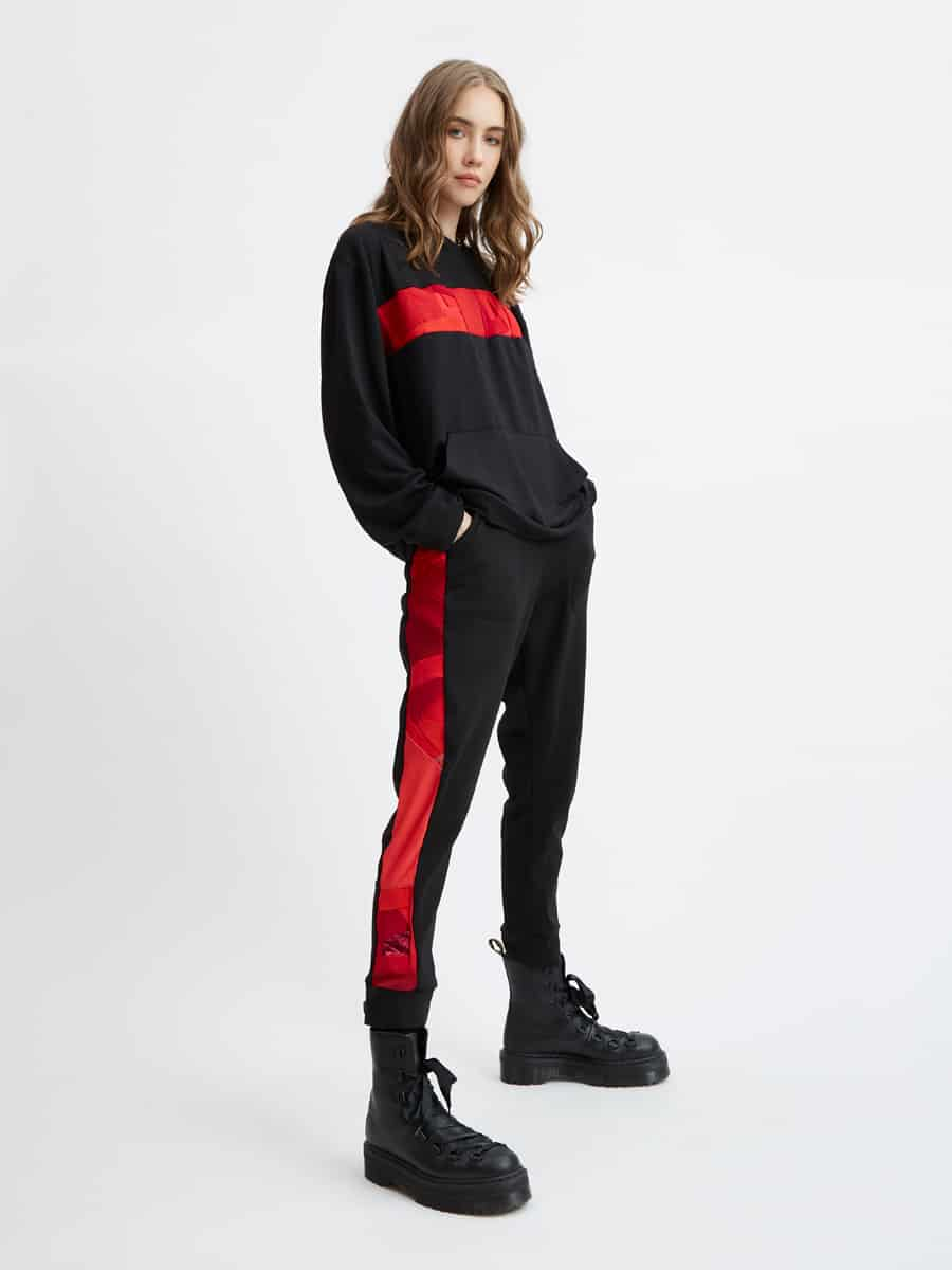Red and Black Jogger