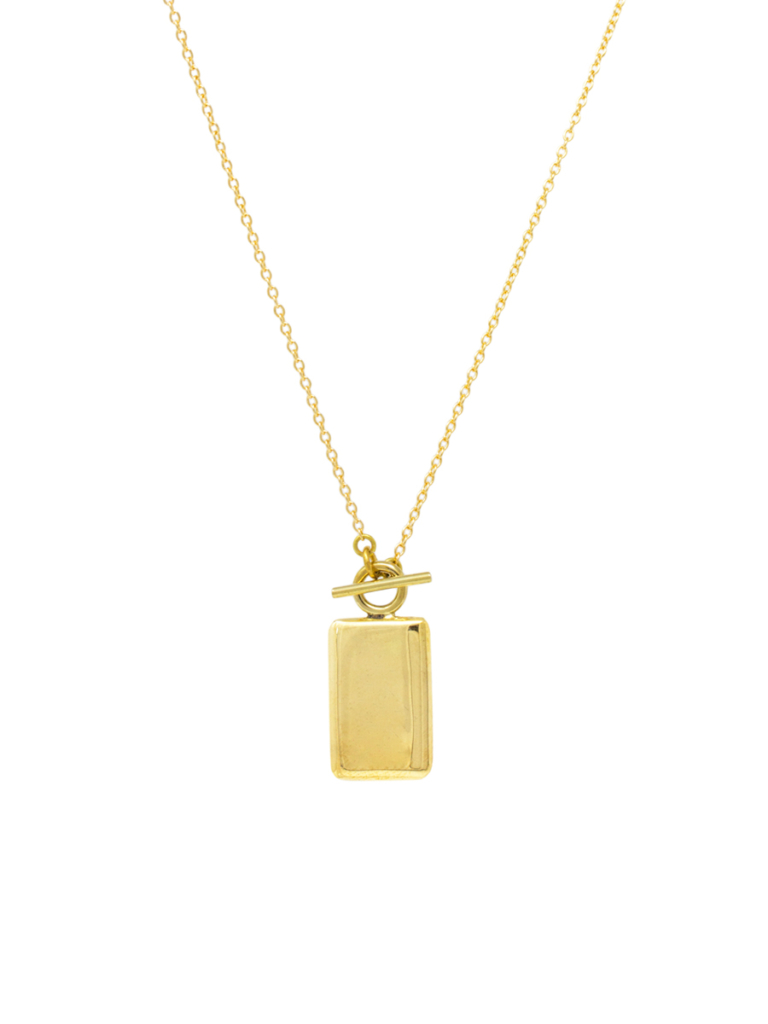 Gold Medallion Chain Necklace