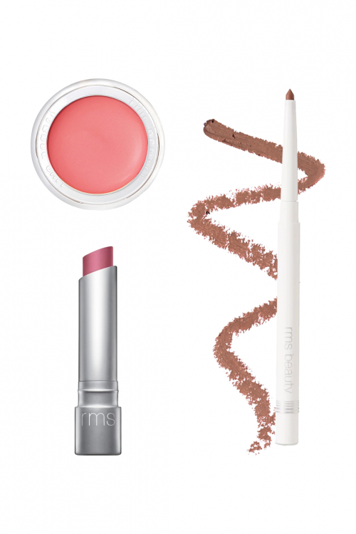 Discounted Bundle that includes a lip2cheek, pink lipstick, and nude colored lip liner