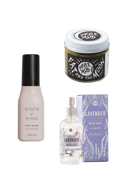 Anti Acne Routine with State of Kind, Fat & the moon pimple mud, and lavendar witch hazel