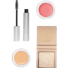 Clean Kit: RMS straight up mascara, Aether diamond highlighter, Lip2cheek in Demure, RMS uncoverup concealer